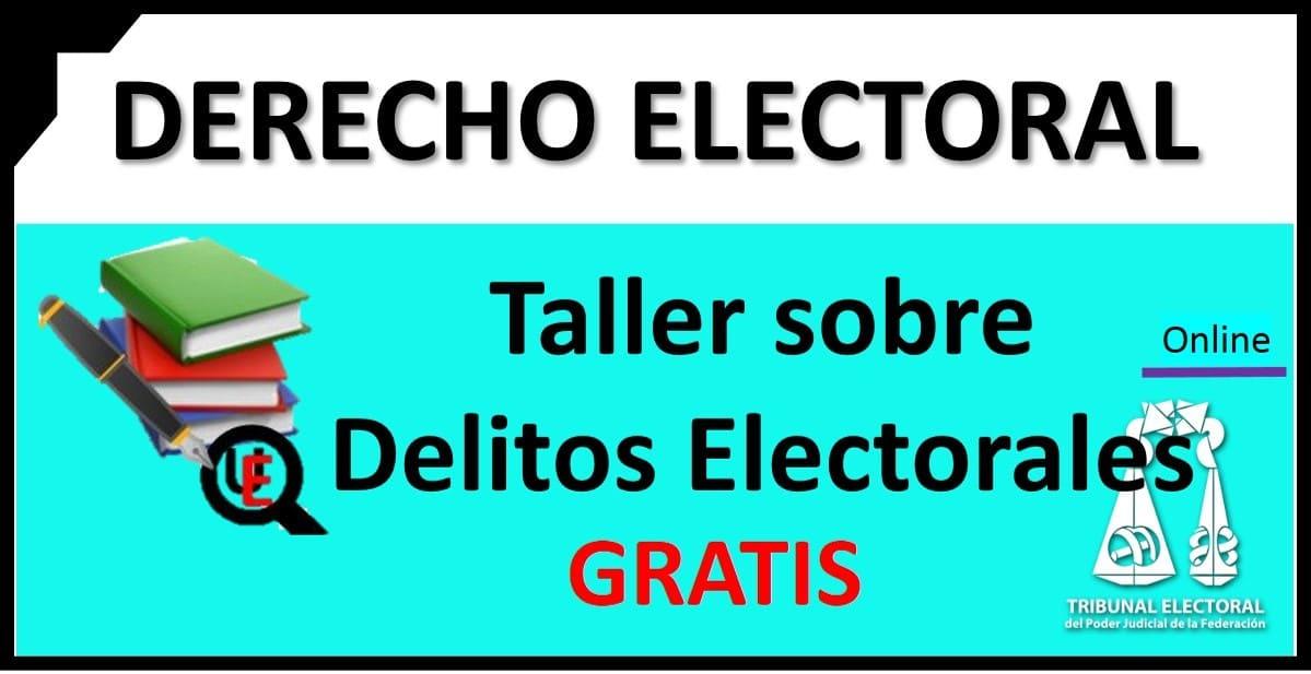 taller virtual en materia de delitos electorales