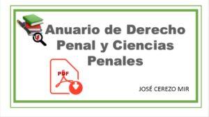 Anuario de Derecho Penal y Ciencias Penales Cerezo Mir PDF