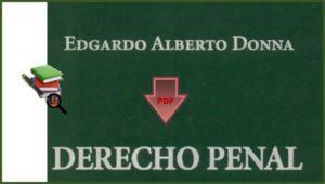 Derecho Penal Edgardo Alberto Donna en PDF